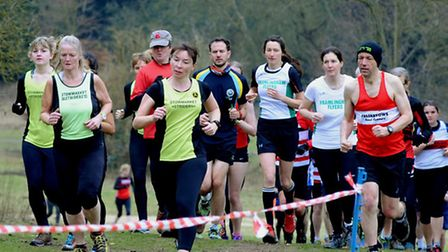 The ladies are to the fore in this pack at Nowrton Park