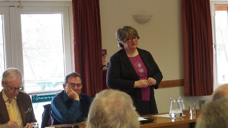 Annual general meeting of Suffolk Coast Against Retreat. Left to right: John Gummer, Lord Deben; Gra