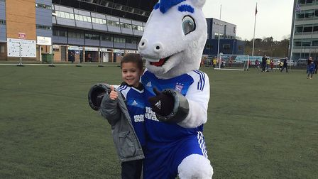 Jack sent us his #myitfcpic with bluey at Ipswich Town V Brentford earlier in the season