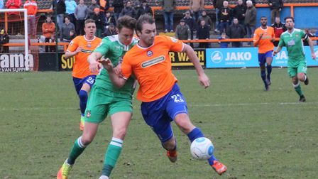 Michael Cheek, who failed to score in the 2-0 home defeat to Barrow. Cheek did however receive the B