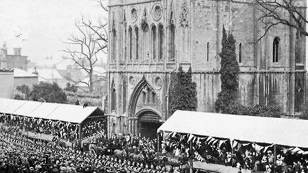 The visit of King Edward VII and Queen Alexandra to Bury St Edmunds in 1904. Photo: Pen & Sword