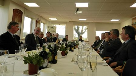 Delegates at the LinksEast lunch event held at the National Farmers' Union's regional headquarters i