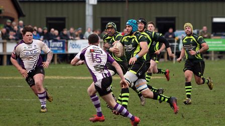 Action from Bury v Exmouth. Photo: Phil Morley.