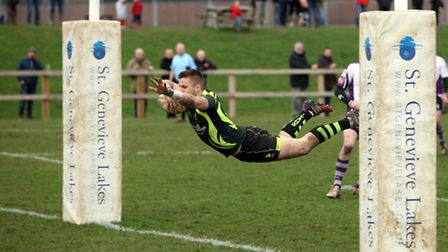 Sam Sterling scores in the second half for Bury