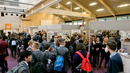 The main exhibition hall at Trinity Park during last year's Suffolk Skills Show.