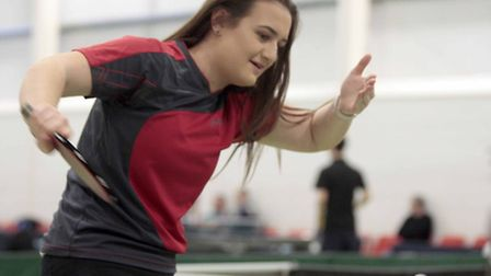 Gracie Edwards, runner-up in the ladies singles