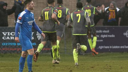 Leiston and Jack Ainsley suffer defeat at Staines Town.