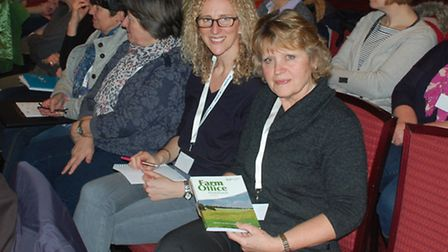 Jenny Pine and Hannah Stevenson at the Institute of Agricultural Secretaries and Administrators (IAg