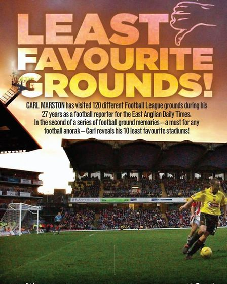 Carl Marston reveals 10 of the worst football grounds he has been to