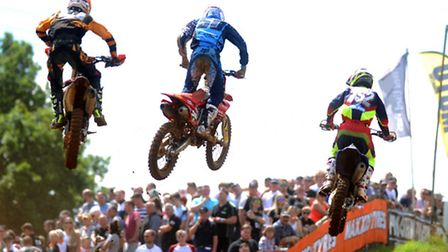 High-flying action at Blaxhall