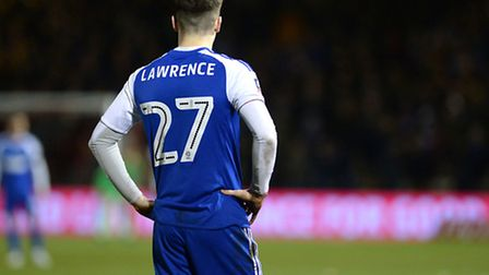 Tom Lawrence has scored 10 goals on loan at Ipswich Town this season. Photo: PAGEPIX