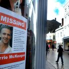 Posters appeal for information to help find Corrie McKeague. Picture: ANDY ABBOTT