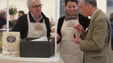 From left, David Strachan and Katherine Manning of Suffolk Meadow Ice Cream with Graham Downing, cha