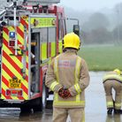 Firefighters are at the scene of a blaze in Fressingfield, north Suffolk. Stock image