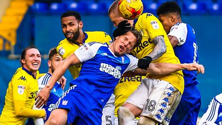 Christophe Berra in the thick of the action against Leeds. Picture: Steve Waller