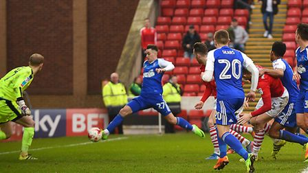 Tom Lawrence ghosts in at the far post to give Ipswich a share of the points at Oakwell against Barn