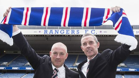 Former Rangers duo Mark Warburton (left) and David Weir have taken over at Nottingham Forest today.