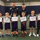 The Suffolk boys 8 and under tennis squad
