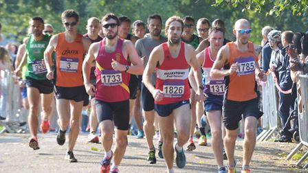 The start of the Ipswich Half Marathon in Christchurch Park in 2015. This year, the race has been re