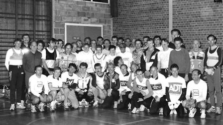 Runners pictured at the club in 1990