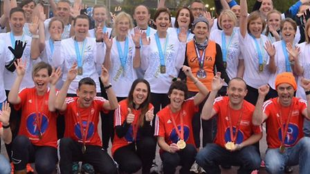 Ipswich JAFFA celebrates its 40th birthday this year. Pictured are runners from the club who complet