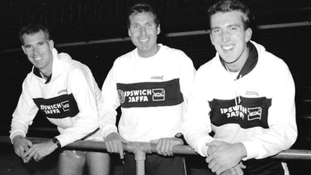 JAFFA runners pictured ahead of running the Berlin marathon in 1990.