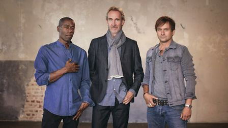 Andrew Roachford, Mike Rutherford and Tim Howar from Mike & The Mechanics. Photo: Contributed
