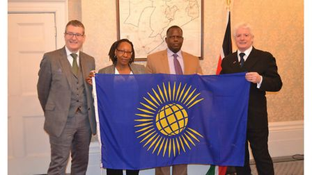 Nwes chief executive Kevin Horne (R) at the launch of the Commonwealth Entrepreneur Development pro