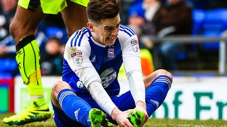 Tom Lawrence has been struggling with an ankle injury in recent weeks. Picture: Steve Waller