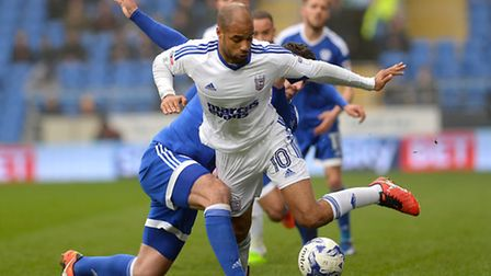 David McGoldrick gets away from the Cardiff defence during the second half Picture Pagepix