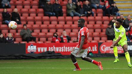 Tarique Fosu produced a lively second-half performance for the U's, and peppered the target on sever