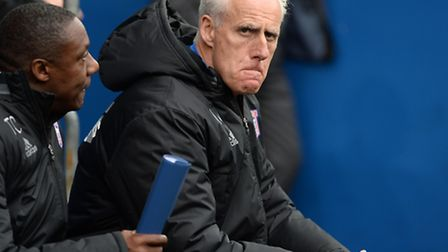 Mick McCarthy looks most unhappy at Cardiff on Saturday