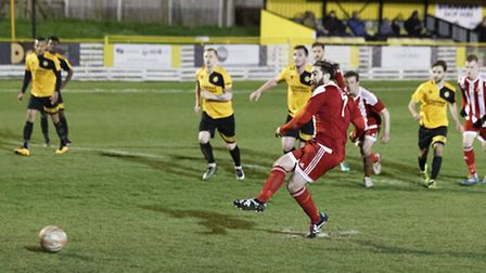 Craig Jennings equalises from the penalty spot for the Seasiders