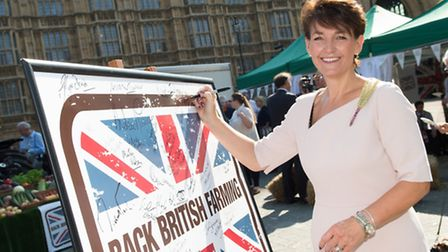 MP Jo Churchill previously supported the NFU's Back British Farming day. Picture: CONTRIBUTED