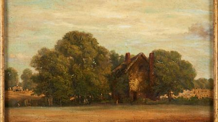 Suffolk Landscape, painted in about 1820, which was bought by Peter Pears in December, 1947, from Ar