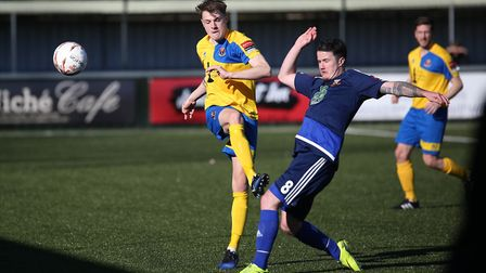 Sudbury's Tyler French in action against Hendon