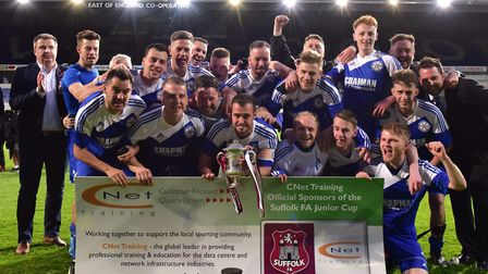 Claydon boss Kenny Kennedy was part of the AFC Hoxne staff when Jamie Scales' men won the Junior Cup