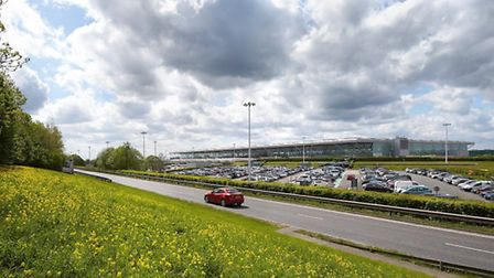 The main terminal at Stansted Airport.