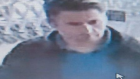 Image of a man police want to speak to in connection with the Marks & Spencer theft