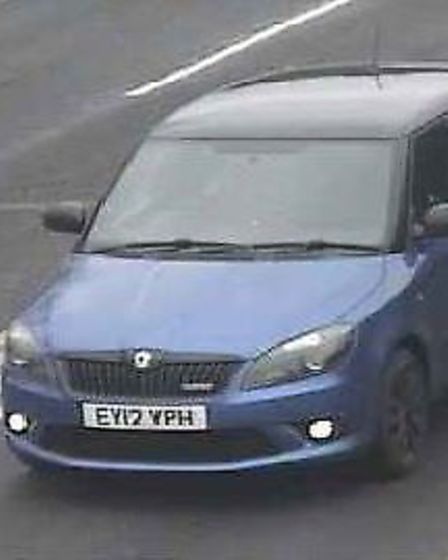 The Skoda Fabia stolen from a property in Knox Road, Clacton
