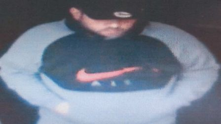 Image of a man police want to speak to in connection with the Halstead theft