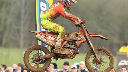 High-flying action from Jake Nicholls at the weekend. Photo: KTM UK