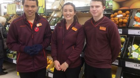 Connor (left) is on a Supported Internship with Sainsbury's in Bury St Edmunds