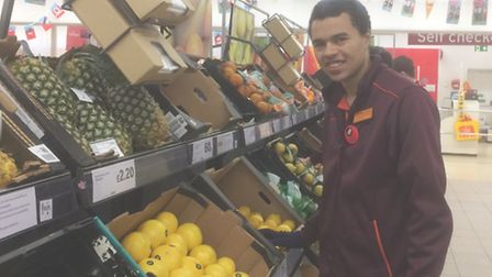 Connor is currently completing a wrk experience placement at Sainsbury's in Bury St Edmunds