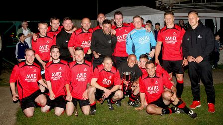 The winning Achilles squad that beat Haughley United 4-2 to win the 2016 Bob Coleman Cup