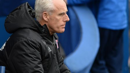 Mick McCarthy watches on during Ipswich Town's 3-1 defeat at Cardiff last Saturday. Picture: Pagepix