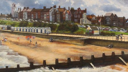 Southwold From The Pier - Southwold artist Karen Keable latest exhibition 'I Dream of the Sea' colle