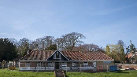 Hadleigh Cricket Club's new pavilion is under construction