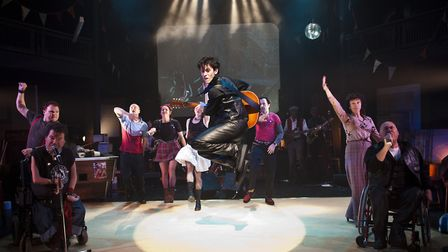Graeae Theatre Company staging a revival of Reasons To Be Cheerful atthe New Wolsey Theatre. Picture