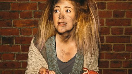 Little Sally.(Bronte Fletcher) in the Gallery Players production of Urinetown, the Tony-winning musi